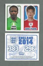 Nigeria Ahmed Musa C.S.K.A Moscow 296 South KOrea Fi Sung-Yueng Sunderland 383